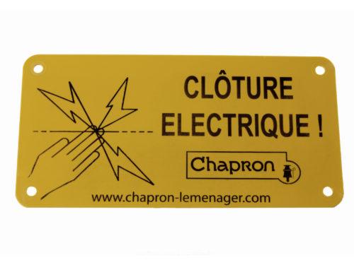 PLAQUE «CLÔTURE ÉLECTRIQUE» – CHAPRON LEMENAGER