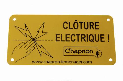 PLAQUE «CLÔTURE ÉLECTRIQUE»